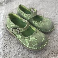 Baby / Toddler Next Girls Olive Green Suede Child shoes Mary Janes Size 3 Wide