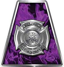Firefighter Fire Helmet Tetrahedrons Set of 8 Purple Inferno Maltese Cross FF020