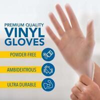 DISPOSABLE GLOVES 100 pcs Clear Non Sterile Powder Free Vinyl PPE Gear Wholesale