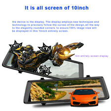 10'' 1080P Android 5.0 GPS WiFi Dual Lens Dash Car DVR Camera Rearview Mirror