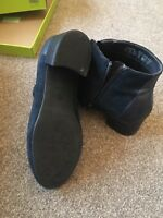 bnib hotter navy suede ankle boots size 5.5
