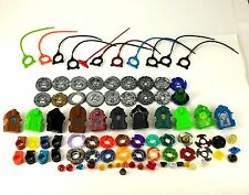 Huge lot of 18 Metal Beyblades Launchers Metal Parts