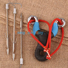Stainless steel Hunting Fishing Slingshot Catapult  Bow Fish Arrows Hunter
