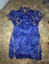 """Chun-Li """"Street Fighter"""" Blue Dress Cosplay"""