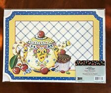 Mary Engelbreit 6 Count Paper Placemats 10 X 14 Teapot Cupcake Cherries New