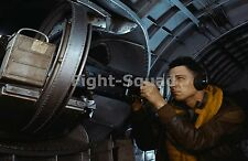 WW2 Picture Photo American airmen with machine gun of a B-17 Flying Fortres 1372