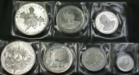 1969 Guniea 7 Coin Silver Proof Set 500 250 200 100 Francs Guineeas Cheetah Case