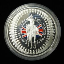 2002 AUSTRALIA  ONE DOLLAR STERLING SILVER PROOF GOLDEN JUBILEE COIN (COLOUR)