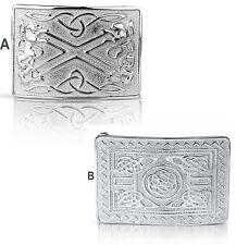 Schottischer Kilt Gürtelschnalle Messing Spiegelglanz Keltisches Design