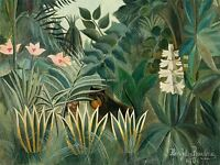 HENRI ROUSSEAU FRENCH EQUATORIAL JUNGLE OLD ART PAINTING POSTER PRINT BB5633A