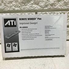 NEW ATI Remote Wonder Plus RF PC multimedia control Kit 151-V01195 USB receiver