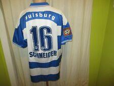 """MSV Duisburg uhlsport Heim Trikot 1999/00 """"Thyssengas"""" + Nr.16 Schneider Gr.XL"""