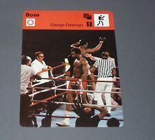 FICHE BOXE BOXING 1974 KINSHASA MUHAMMAD ALI Vs GEORGE FOREMAN RUMBLE IN JUNGLE