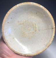 Antique Chinese Southern Song White Glazed Porcelain Bowl Saucer Ding Type