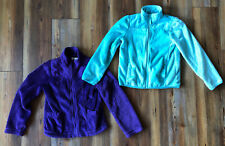 The Childrens Place Girls Size 7/8 Fuzzy Soft Fleeze Full Zip Up 2 Jackets