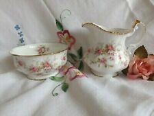PARAGON VICTORIANA ROSE SUGAR AND CREAMER large size