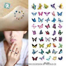 1x Sheet Mini Butterfly Temporary Tattoos UK SELLER 45 Butterflies in Total 🌈