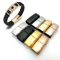 Stainless Steel Magnetic Clasp Hole for Leather Cord Buckle Bracelet Jewelry U_X