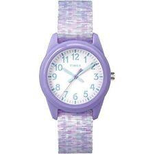 Timex TW7C12200, Kid's Time Machines Purple Nylon Fabric Strap Watch