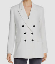 $79 Marled Women's White Lightweight Double Breasted Blazer Coat Jacket Size L