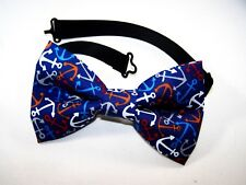 NEW FABRIC BOW TIE W/ Adjustable Strap * ANCHOR * Handmade USA * FREE SHIPPING