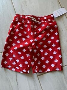 NWT Old Navy Boys Swim Trunks Size 5T Red Canada Day