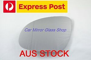 LEFT PASSENGER SIDE VW PASSAT 2006-2011 MIRROR GLASS WITH HEATED BACK PLATE