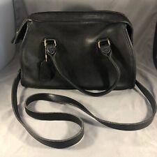 """Coach Vtg Black Leather """"Broadway"""" Satchel Shoulder Crossbody Bag Made in USA"""