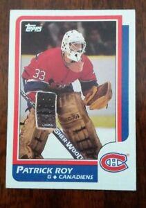 1986-87 Topps #53 Patrick Roy Rookie Card RC HOF