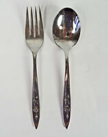 Oneida My Rose Community Salad Fork & Sugar Spoon Stainless Betty Crocker