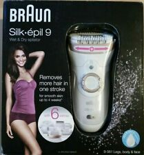 Braun Silk-épil 9561 Wet & Dry Epilator for Legs, Body & Face. With 6 Extras!!