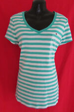 Tommy Hilfiger Green/White Striped Short Sleeve T-Shirt/Top NWT Size L*REDUCED