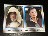 STAR WARS 2017 Topps ~ Luke Skywalker Princess Leia ~ FAMILY LEGACY insert #2 F1
