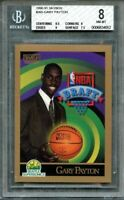 1990-91 skybox #365 GARY PAYTON seattle supersonics rookie BGS 8 (8.5 8 9 7.5)