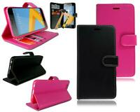 For HTC One A9s Stylish Leather Flip Wallet Phone Case Cover + Tempered Glass