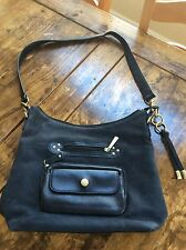 womens handbags and purses/Stone Mountain Black Leather Shoulder Bag
