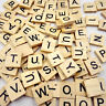 100x Wholesale Bulk Pick Choose Wooden Scrabble Tiles Letter Number Alphabet Lot