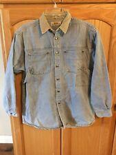 Women's GUESS Denim Shirt Size Oversized L 100% COTTON