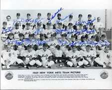 1969 New York Mets signed team 8x10 photo (22)- all blue sharpies INPERSON