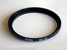 STEP UP ADAPTER 62MM-67MM STEPPING RING 62 TO 67MM 62-67 STEP UP RING