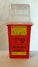 BD Phlebotomy Sharps Container 1.5Qt Nestable Red Waste Collector #305487 New