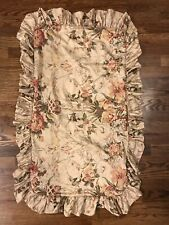 Ralph Lauren Guinevere Floral Ruffle Pillow Sham Case Cover 35 X 20 Read!