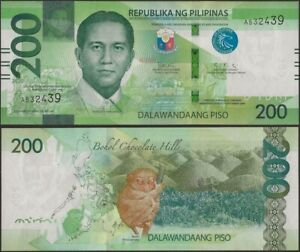 PHILIPPINES B1092 200 PISO 2020 BLIND MARKS @ EBS