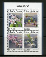 SAO TOME 2018 ORCHIDS  SHEET  MINT NH