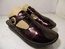 Alegria ALG-112 PG Lite Clogs Slip On Buckle Burgundy Patent Sandals Womens Sz 4