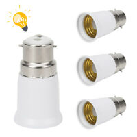 4pcs B22 Bayonet Cap BC to E27 Edison ES Light Bulb Converter Adaptor Fitting