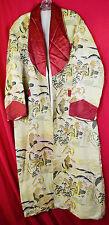 Vintage Asian Brocade Men's Smoking Jacket Crane Lounge Japan Robe