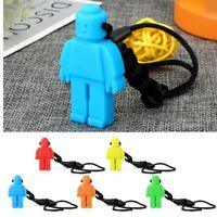 Hot Teeth necklace baby teether autism sensory chew BPA free silicone Robot Toy