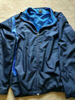 Men's Lightweight Windbreaker Jacket, Starter Brand, Royal Blue, Sz XL