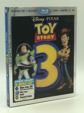 Toy Story 3 (Blu-ray 3D+Blu-ray+DVD+Digital, 2011) NEW w/ Lenticular Slipcover